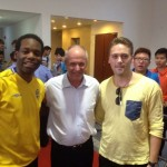 In China with Sven-Göran Eriksson and Robin Skarphagen